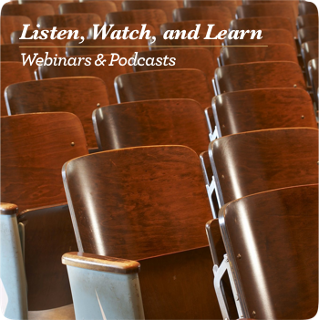 Free learning, webinars and podcasts.