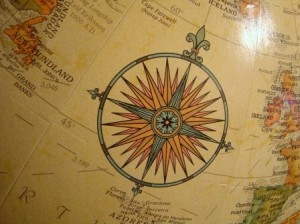 globe compass, compressed